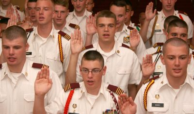 Fishburne Military School (Waynesboro, VA) Cadet Leaders take oath of office