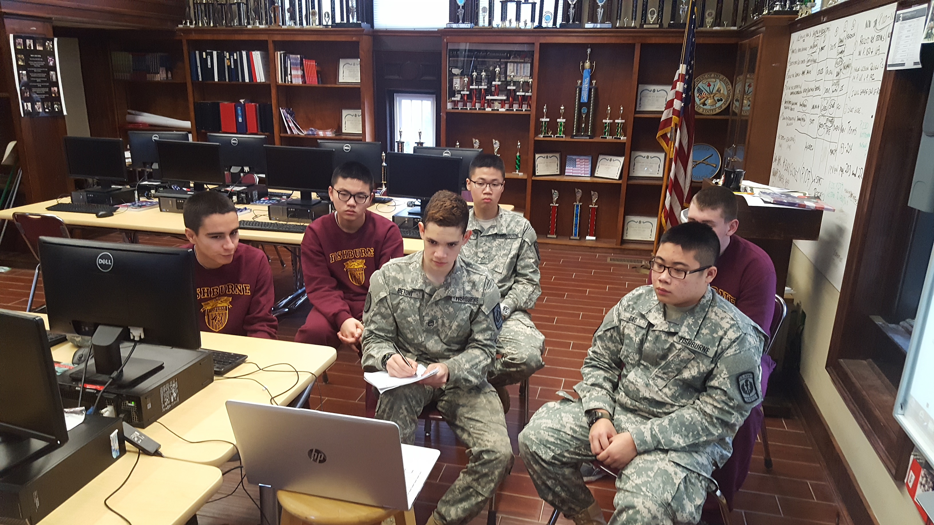 Fishburne Military School JROTC sponsors CyberPatriot , Leadership Bowl and Academic Bowl Teams