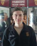 Cadet Derek Prestes (Glen Allen, VA) was named Cadet Officer of the Month at Fishburne Military School (Waynesboro, VA)